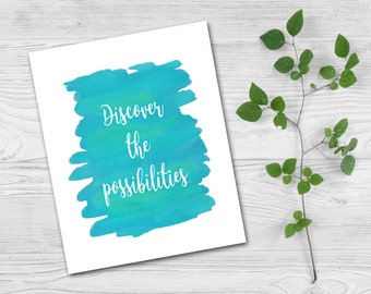 Digital download, Printable art, Instant Wall art, Word art, Encouragement, Inspirational quote, Motivational quote, Watercolor
