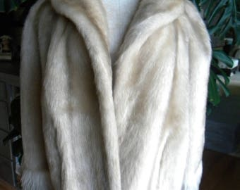 Lush Faux fur cape / stole / wrap / shrug