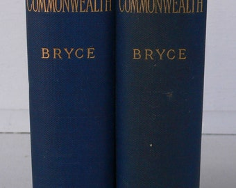 antique books, The American Commonwealth, 1891, political history, free shipping, from Diz Has Neat Stuff