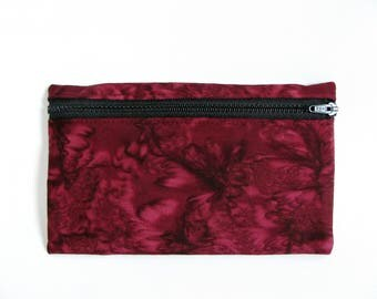Large Pouch- Mulberry tie dye cotton