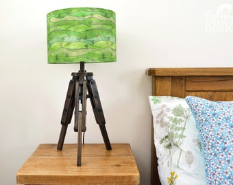 Countryside Lampshade, Rolling Hills Illustrated Lamp Shade, Handmade Lighting, Ceiling Lampshade, Lampshade for Floor Lamps