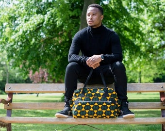 NEW!Afro HoldAll, Hand Stitched, Duffle Bag, Overnight bag, Luggage bag, African Print Bag, in Camouflage Print by Afrocentric805
