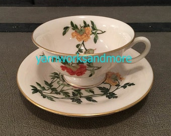 Castleton Ma Lin Tea Cup & Saucer, Castleton China Cup And Saucer, Vintage 1950s, Gifts Under 20
