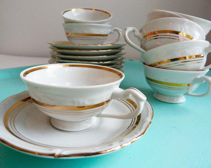 Chodziez gold Dubarry fine porcelain demitasse coffee / espresso cup