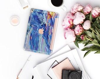 Nicole's Autumn with Rose Gold Smart Cover Hard Case for iPad Air 2, iPad mini 4 , iPad Pro , New iPad 9.7 2017 - Platinum Edition