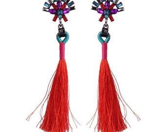 Jeweled and Tassel earrings