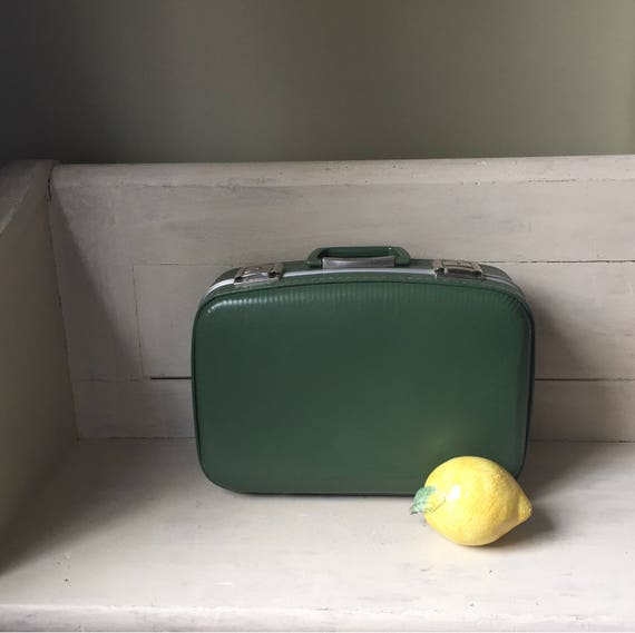 Hardside Vintage Suitcase Avocado Green Vintage Luggage