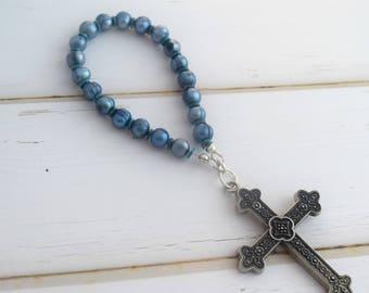 Prayer Beads   Meditation Beads, First Communion Gift, Prayer Devotional, Meditation Cross, Gift-For-Mom, Baptism Gift, Bridesmaid Gift