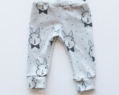 Dapper Bunny Cuff Leggings // Easter Bunny //  Kids Pants // 0-6T // Girls Pants // Boys Pants // Babies and Kids // Spring //Coming Home