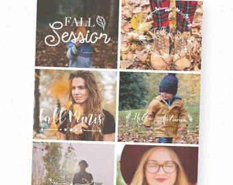 Fall Photography Overlay, Text Overlay, Fall Overlays Photoshop, Png Overlays, Autumn Photography, Words Overlay, Fall Template Photography