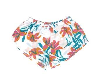 Biasa Pajama Shorts - Lillies PINK - Code: P005
