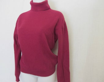 Cashmere Sweater Pullover Sweater Turtleneck Cashmere Sweater Burgundy Cashmere