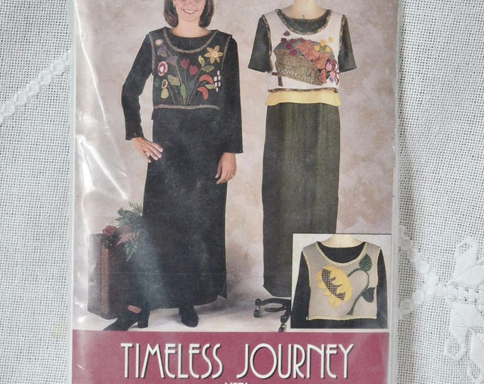 Timeless Journey IJ571 Sewing Pattern Misses Dress and Overvest Size S to XL Indygo Junction DIY Fashion Sewing Crafts PanchosPorch