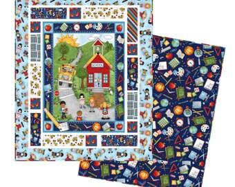 School Zone Teacher Childrens Quilt,bedding, handmade quilts, baby quilts, quilt patterns, bedding, blanket, quilt,modern,vintage,patchwork