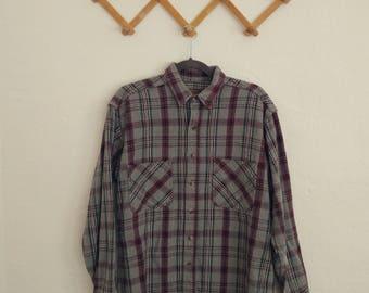 Men's St. John's Bay Heavyweight Flannel Shirt (Medium). Flannel Shirt. Oversized Flannel. Vintage Flannel.