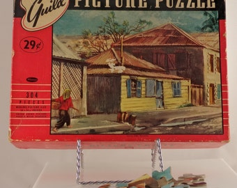 Vintage Guild Picture Perfect Sunny Side Noumea Puzzle/Antique Guild Picture Puzzle/Complete Sunny Side Noumea Puzzle/Guild Picture Puzzle
