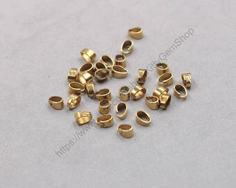 6mm 100Pcs Raw Brass Bails , GY-S071407-GZ-14