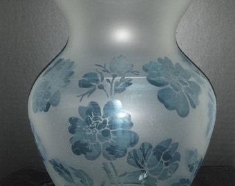 Floral Etched Vase