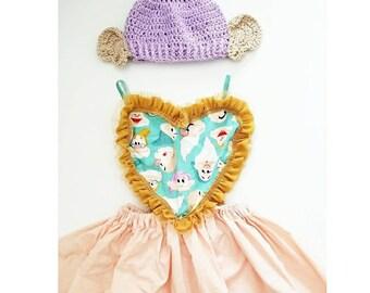 Dopey Inspired girls Dress & hat. Set for dress up, Disney trips, birthday