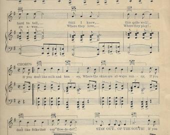 ukulele sheet music collage page 1928