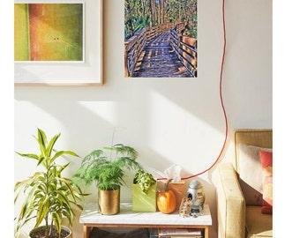 Aluminom Wall Art / Publish Photograph Road Less Traveled / Tropical Wall Art / Metal Print / Easy Hang