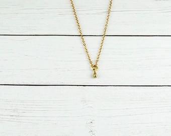Tiny Teardrop Necklace, Simple Necklace, Delicate Necklace, Layering Necklace, Childs Necklace