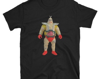 Teenage Mutant Ninja Turtles Krang Action Figure T-Shirt TMNT Toy Collector 80s