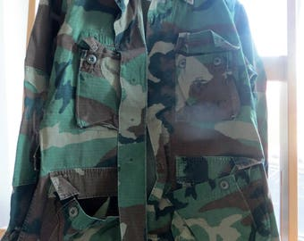 Vintage Military Camo Shirts Size Small