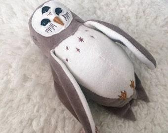 Artemis the Dream Guardian OOAK plush barn owl doll