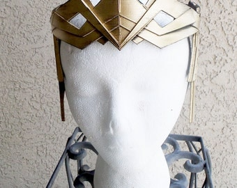 FULL DETAIL-Hippolyta of Themyscira Inspired Tiara Crown Wonder Woman the movie cosplay headgear crown