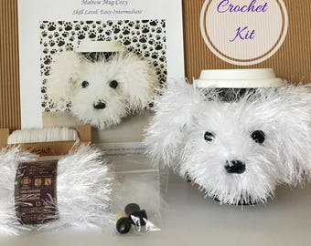 Crocket Kit - Amigurumi Kit - Crochet Pattern Dog - Crochet Starter Kit - Crochet Gifts - Crochet Dog Pattern - Dog Crochet Pattern