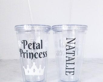 Personalized Flower Girl Clear Tumbler - Bridal Party Gifts - Flower Girl Gifts - Flower Girl Tumbler - Petal Princess Gift - Flower Girl