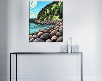 Acrylic paint - cliff