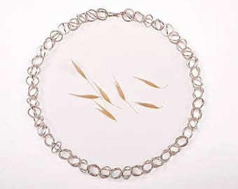 Articulated choker necklace. 925ml Silver