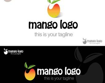 Mango Logo // Fruit Logo // Tropical Logo // Premade Logo Design // Business Logo