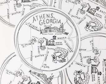"""Athens, Georgia 4"""" Vinyl Sticker"""
