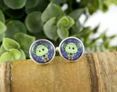 Yoda Cufflinks - Gift for Him - Wedding Accessories - Grooms Gift Idea - Father's Day Gift - Movie Cufflinks - Star Wars Cufflinks