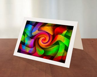 Abstract Art Greeting Cards 4-Pkg of 6 Cards With Envelopes-Abstract Art Card-Any Occasion Card-Everyday Card-Collector Art Cards