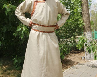 Traditional Mongolian Deel (Padded)