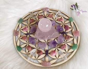 15cm Attracting Love Complete Set of Crystal Grid