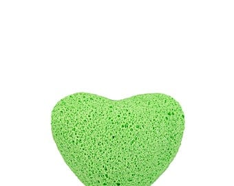 Green Tea Konjac Sponge Heart