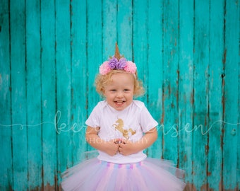 Unicorn Headband, Unicorn First Birthday Outfit Girl Headband, Unicorn Cake Smash Outfit Girl Headband, Baby Unicorn Costume Headband