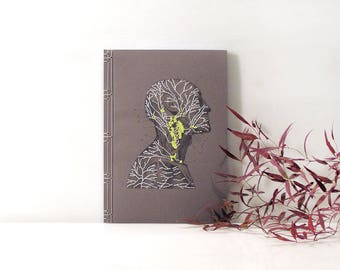 Anatomy Journal. Lymphatic System and Lymph Nodes. Embroidered Notebook. Medical Art. Anatomy Notebook. Gift for Doctor. Science Art Journal