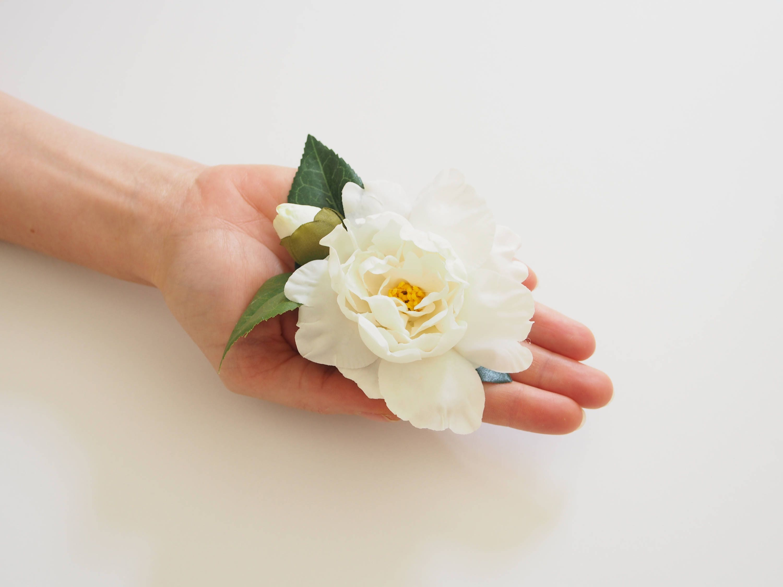 Ivory Flower Crown Bridal Flower Clip White Flower Clip Floral