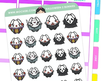 Halloween Mix 2 Bunnies / Halloween Planner Stickers