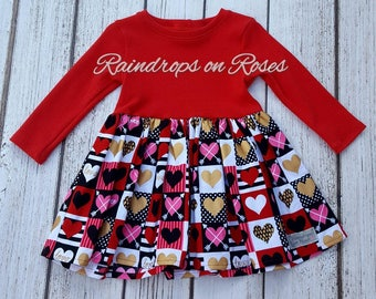 Heart knit dress