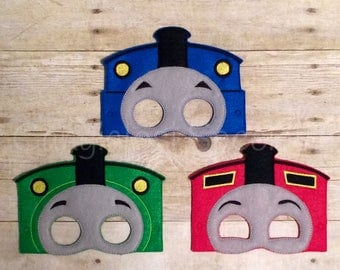 Thomas The Train Inspired Masks/Child/Costume/Gift/Christmas/Party Favor/Halloween Costume/Photo Booth/Birthday/Party/Thomas Train