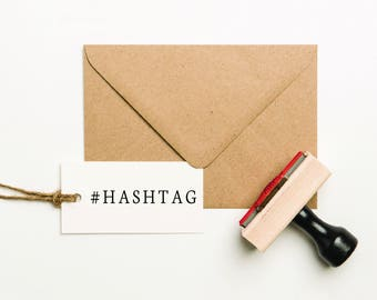 Personalized Hashtag Stamp, Custom Business Stamp, Social Media Stamp, Business Name Stamp, Packaging Stamp, Company Name Stamp (SBIZZ106)