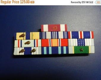 Summer Sale Vintage Vietnam War era US Air Force Leu's Handcraft Taiwan Custom Made Ribbon Bar