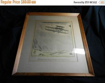 Summer Sale Vintage Wright Brothers Lithograph Print by Frank Lemon Framed